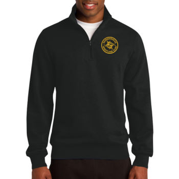 Adult Fleece 1/4 Zip - Black Thumbnail