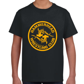 Youth 100% Cotton T-Shirt with Yellow Printing Thumbnail