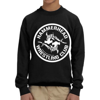 Youth Heavy Blend Crewneck Sweatshirt with White Printing Thumbnail