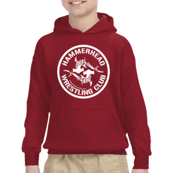 Youth Heavy Blend Hooded Sweatshirt with White Printing Thumbnail