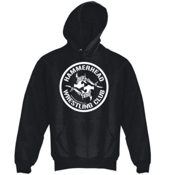 Adult Heavy Blend Hooded Sweatshirt with White Printing Thumbnail
