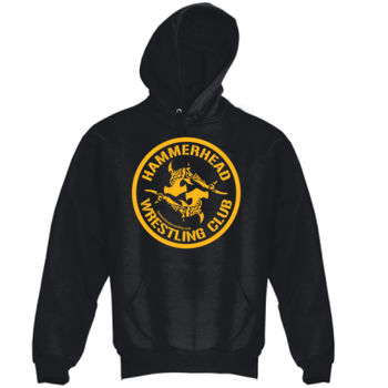 Adult Heavy Blend Hooded Sweatshirt with Yellow Printing Thumbnail