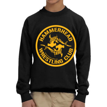 Youth Heavy Blend Crewneck Sweatshirt withYellow Printing Thumbnail