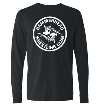 Adult 100% Cotton Long Sleeve with White Printing Thumbnail